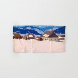 Clarence Gagnon - Laurentian Homestead - Ferme du rang St. Antoine, Baie St. Paul Hand & Bath Towel