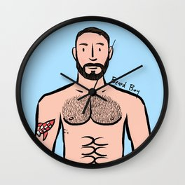 Beard Boy: Xavi Wall Clock