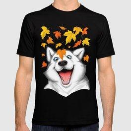 Autumn husky T-shirt