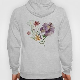 Rural Floral Pattern Spaced Out Hoody