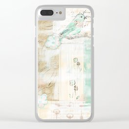 Creative Nature Mixed Media Clear iPhone Case