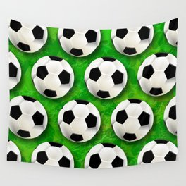 Soccer Ball Football Pattern Wall Tapestry