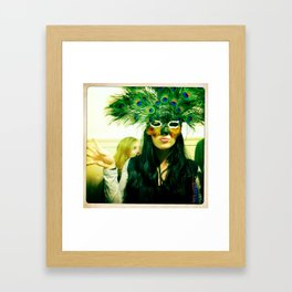 Peacock Girl Framed Art Print