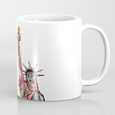 the french gift: statue of liberty Mug