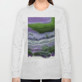 Purple and Green Agate Long Sleeve T-shirt