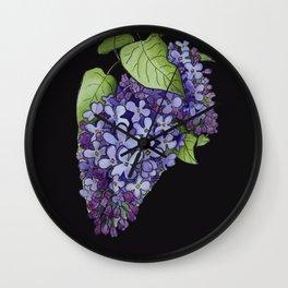 Luminous lilacs Wall Clock