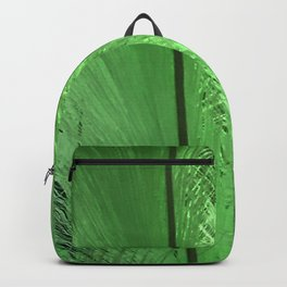 Emerald Green Long Feathers In Opulent Luxury Backpack