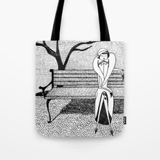 Patiently waiting for Spring Tote Bag