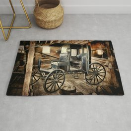 Vintage Horse Drawn Carriage Rug