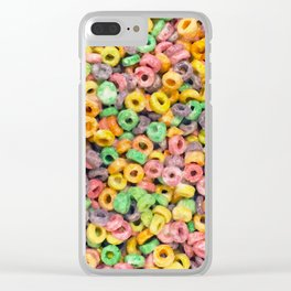 204 - Fruit loops and Marshmallows Clear iPhone Case