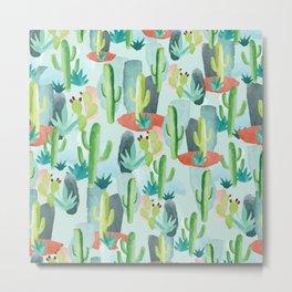Cactus Forest Metal Print
