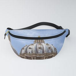 St Peter's basilica dome close-up view in Vatican - Rome, Italy Fanny Pack