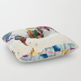 map Floor Pillow