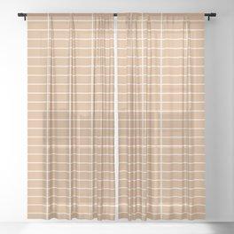 Minimal Grid XVI Sheer Curtain