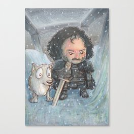 Snow and Ghost on The Wall Canvas Print