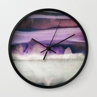 northern lights Wall Clocks featuring Northern Lights by SpaceFrogDesigns