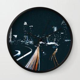 Atlanta Georgie Skyline at Night Wall Clock
