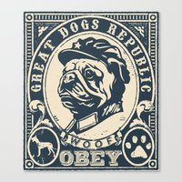 obey Canvas Prints featuring OBEY by frail