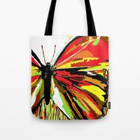 butterfly Tote Bags featuring Butterfly  by Saundra Myles