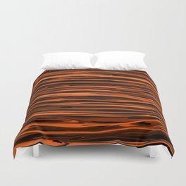Harvest Orange Abstract Lines Duvet Cover