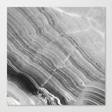 Shades of grey marble Canvas Print