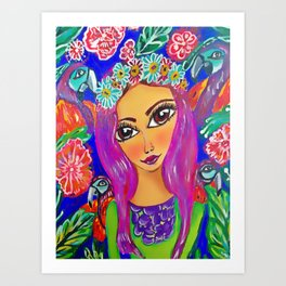 fiesta tropical Art Print