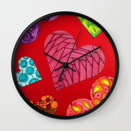 A collection of hearts Wall Clock