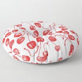 Red juicy cherries Floor Pillow