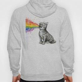 Kitten Puking Rainbow Cat Rainbow Vomit Hoody