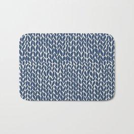 Hand Knit Navy Bath Mat