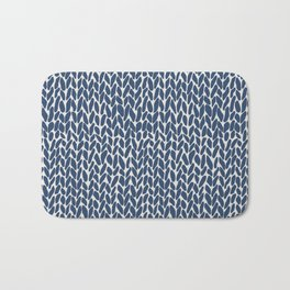 Hand Knit Navy Bath Mat