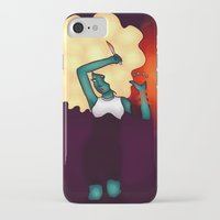 oil iPhone & iPod Cases featuring Oil by attercopter