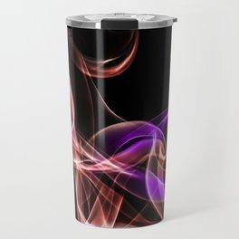 Smoke creations - red and violet Travel Mug