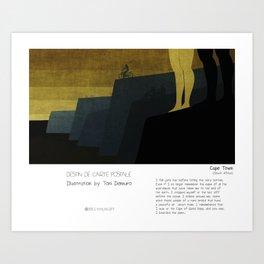 """Cape Town"" in words & image (Toni Demuro) Art Print"