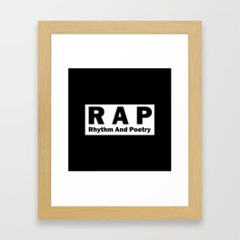RAP Framed Art Print