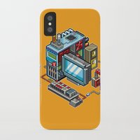 computer iPhone & iPod Cases featuring 8bit computer by Sergey Kostik