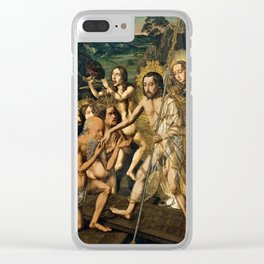 Descent of Christ into Limbo by Bartolome Bermejo, 1475 Clear iPhone Case