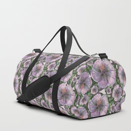 Marsh-Mallow flower pattern Duffle Bag
