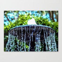 Water Fountain Canvas Print