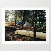 Alaska Island Camping Art Print