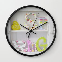 Happy Spring Wooden Letters Wall Clock