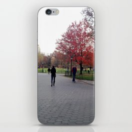 Fall in the Park iPhone Skin