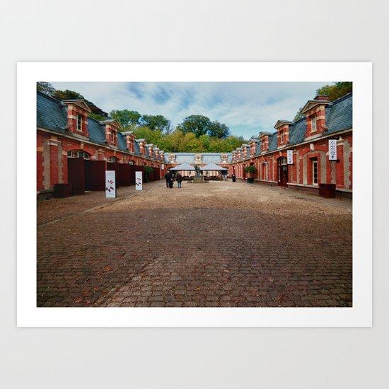 Waddesdon Manor Stables Art Print