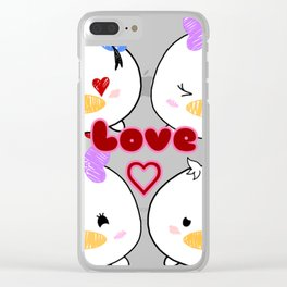 Donald Loves Daisy Tsums Clear iPhone Case