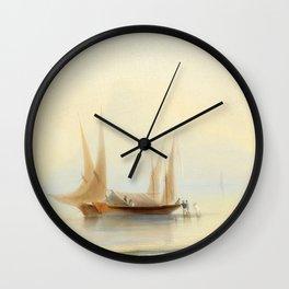 Ivan Aivazovsky - Barge at Sea Shore Wall Clock