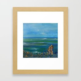 Just Blue Framed Art Print