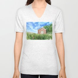Barn to where my home is Unisex V-Neck