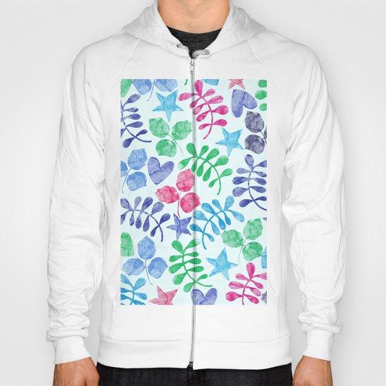 Watercolor Floral Pattern II Hoody