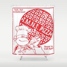 TMNT Pizza Shower Curtain