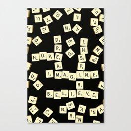 Scrabble Scanograph Canvas Print
